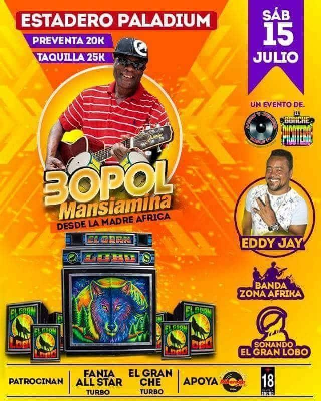 Concert Bopol Mansiamina le Samedi 15 juillet 2017