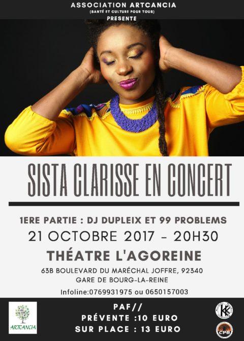 Sista Clarisse en concert pour les enfants malades