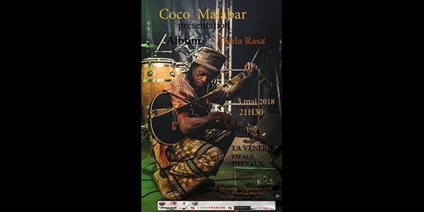 Nouvel Album : «Tabla Rasa» nouvel album de Coco Malabar