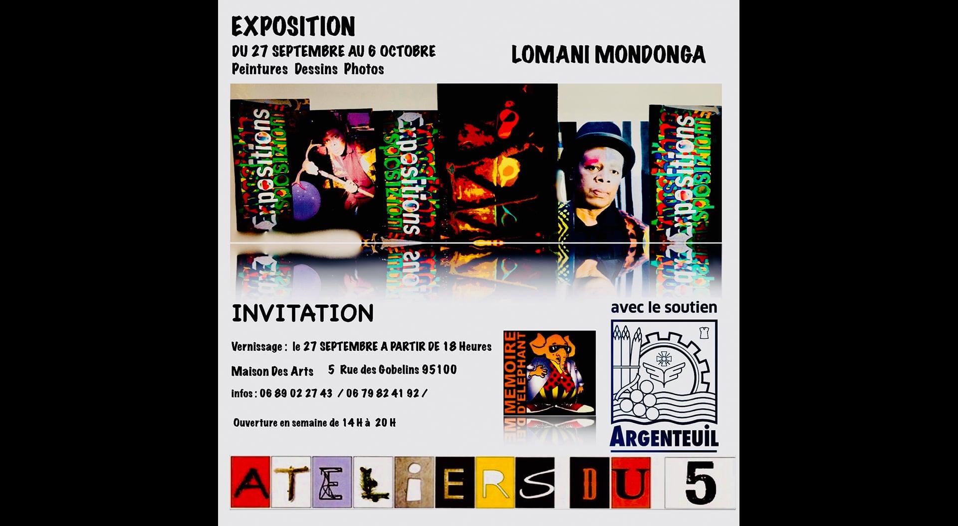 Exposition Lomani MONDONGA du 27 septembre au 6 octobre 2018