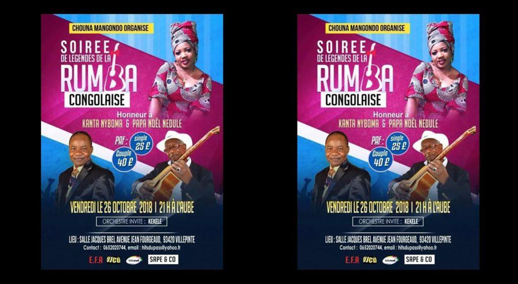 Soirée de légende de la Rumba Congolaise